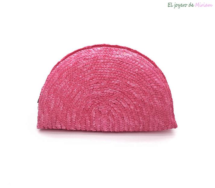 super popular 9afdc f0498 Bolso rafia rosa