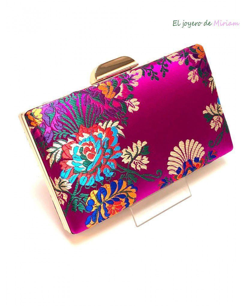 moderno y elegante en moda estilo exquisito 100% de satisfacción Bolso fucsia estampado