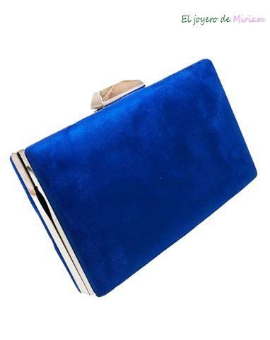bastante agradable 34cf5 be7fe Bolso clutch azul klein